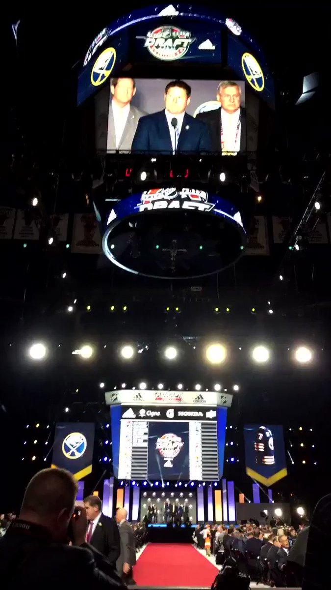 #Sabres GM Jason Botterill makes his first selection, Casey Mittelstadt. https://t.co/PGojK5cWRB