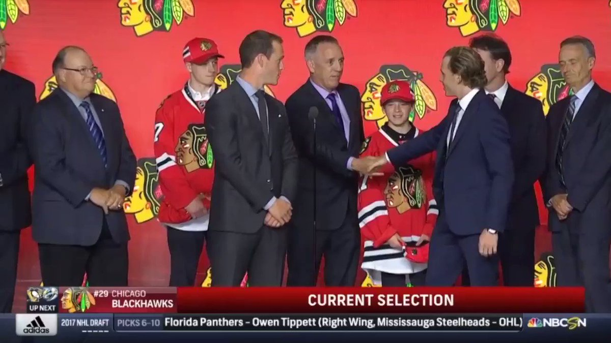 Chicago Blackhawks Patrick Kane and Jonathan Toews announce the team's...