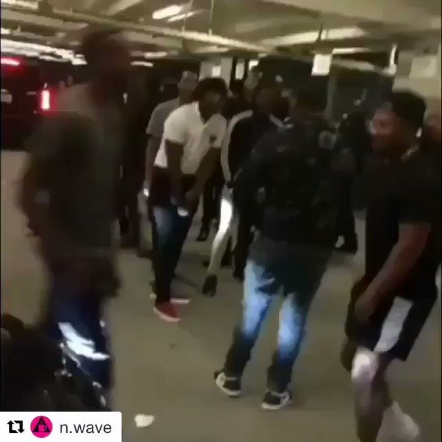 A different angle of the altercation between the Migos and Chris Brown at the #BETAwards... https://t.co/k5WURj9GDR