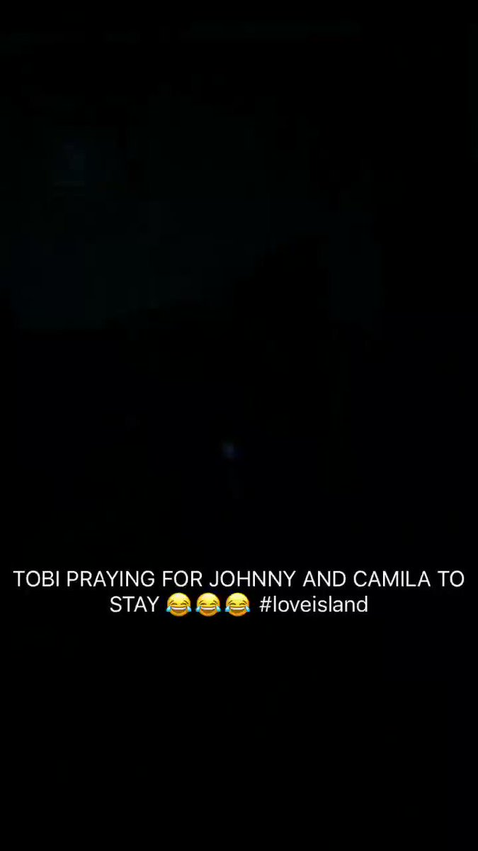 The fact my sister started praying when Johnny and Camilla were in the bottom two 😂😂😂 #LoveIsIand #jamilla