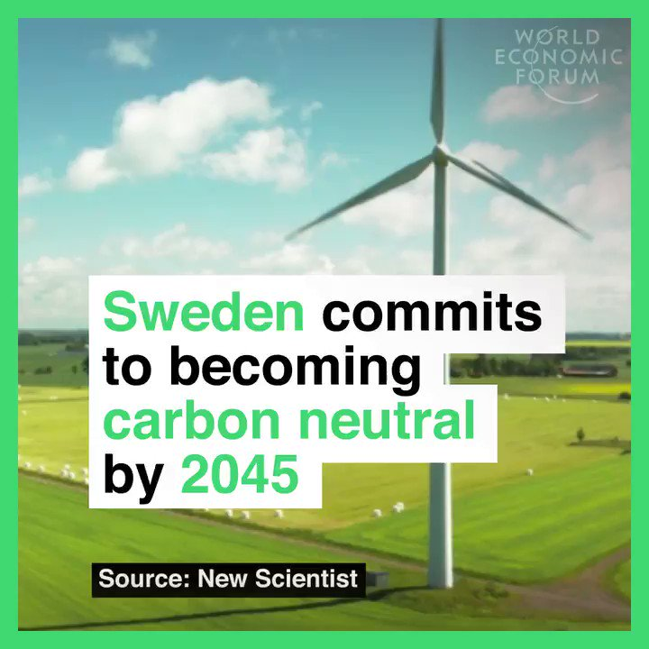 Sweden 🇸🇪 commits to be carbon neutral by 2045; 5 years earlier than original plan https://t.co/pJU9Zk2Rq1 https://t.co/8iv3JaxWOZ