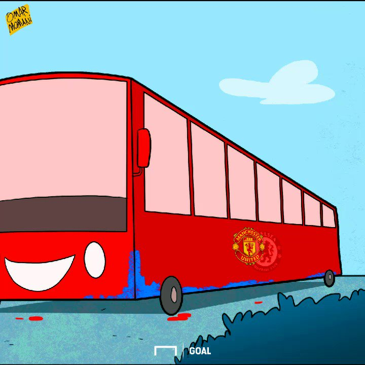 First his bus, now Matic - Mourinho's painting his favorite blue thing...