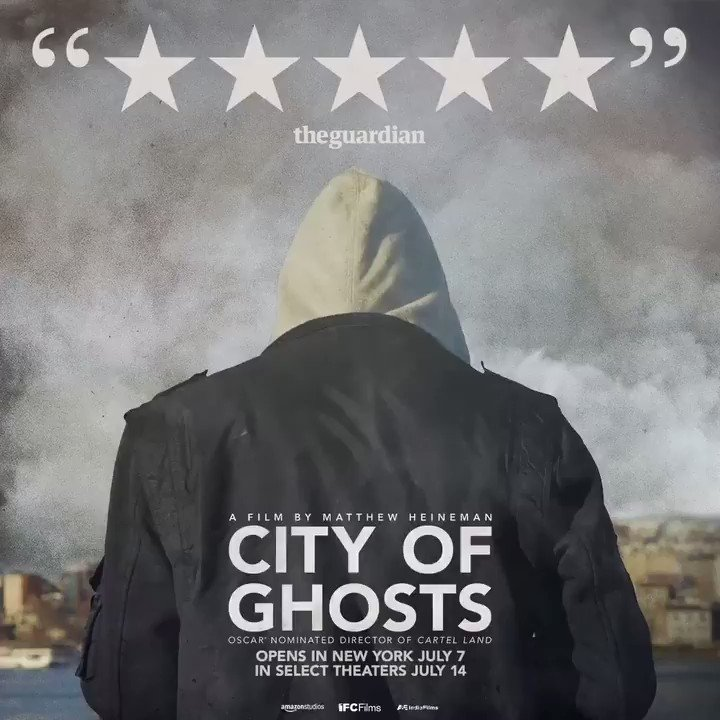 """Critics are raving for #CityofGhosts, calling it a """"POWERFUL"""" and """"TRIUMPHANT"""" documentary. See it in NYC July 7 & select theaters July 14."""