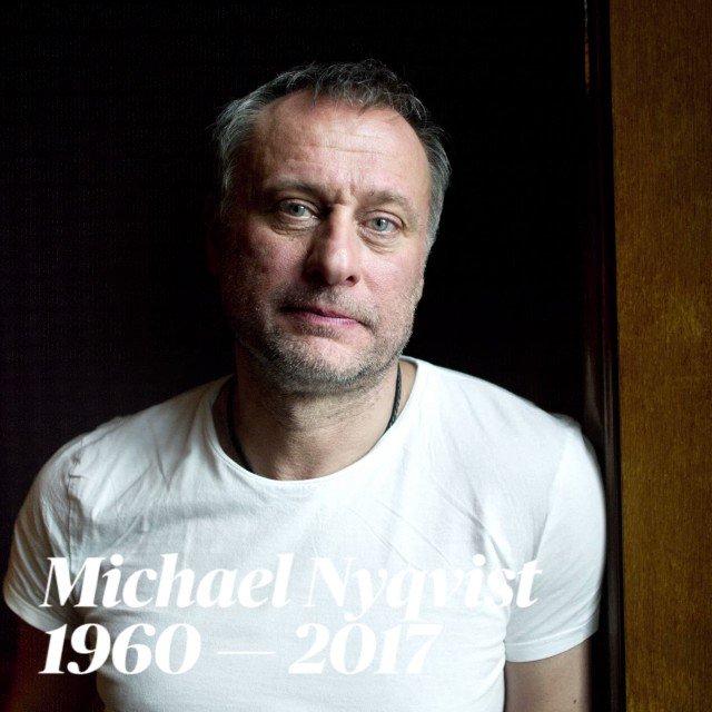 Skådespelaren Michael Nyqvist död — han blev 56 år gammal. https://t.c...
