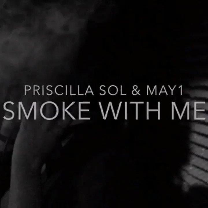 @housemoneyuk very own @officialmay1 and @iampriscillasol  smoke with me .......