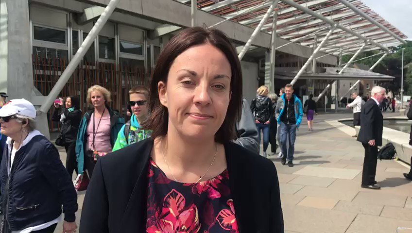 WATCH: @kezdugdale joined the @tiecampaign outside the Scottish Parlia...