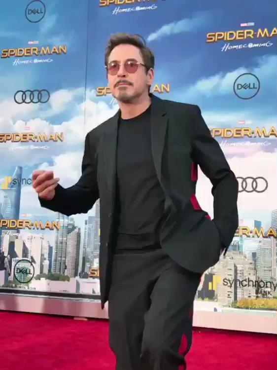 And then Tony Stark shows up. @RobertDowneyJr #SpiderManHomecoming htt...