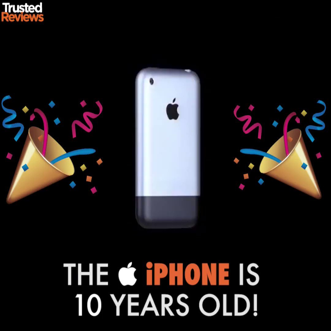10 years ago today, the very first Apple​ iPhone​ was released and eve...
