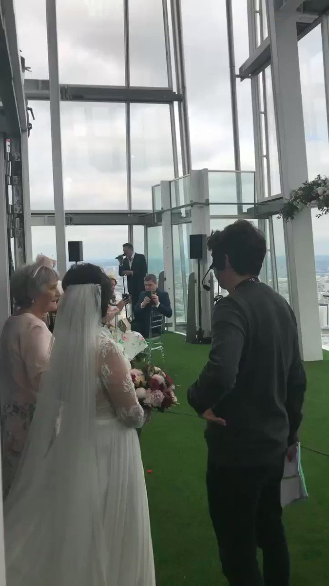 What an amazing thing to be part of @thismorning @shardview #TMWedding...