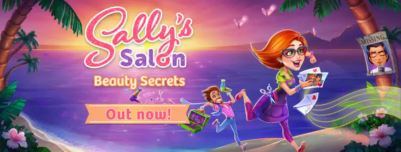 The new Sally's Salon is out! Join Sally and François on this beauty adventure! PLAY NOW: https://t.co/O3ka8Clrat https://t.co/Qy1hhJCOIm