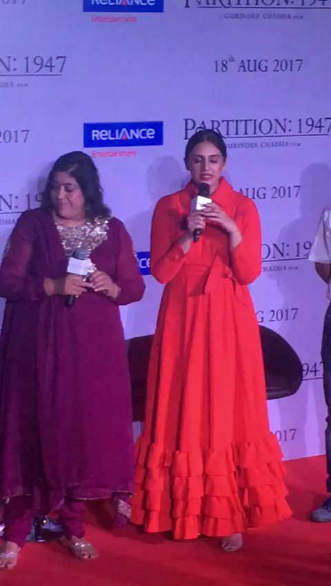 #HumaQureshi shares her views about partition at the #Partition1947 tr...