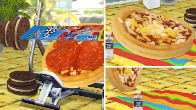 Scope out the only deep dish pizzas that hit the gym because it's #GoBigOrGoHome with Lunchables Uploaded. https://t.co/E6Jei5Q2km