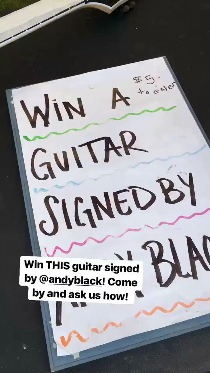 Orlando!!! We're giving away this guitar signed by @andyblack! Come by the MSL tent today and find out how! https://t.co/nxAFIS8Hv5