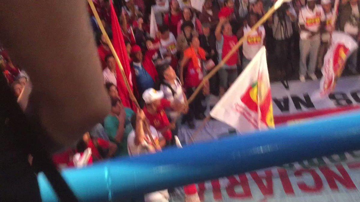 AVENIDA PAULISTA TOMADA!  Greve geral pelos direitos! #ForaTemer #LutarContraReformas #GreveGeral