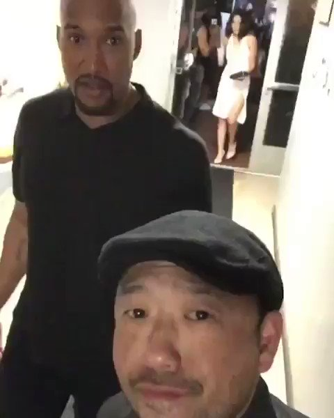   Steven Chen wishing Happy Bday to Henry Simmons with this cute video (with Chloe dancing on background)