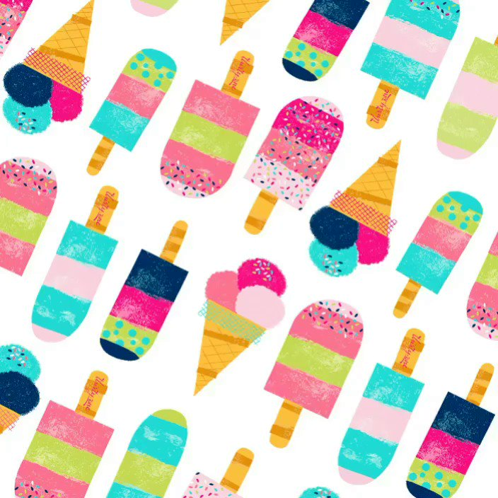 We're celebrating #NationalIceCreamMonth with our limited-time print, Sweet Sprinkles!
