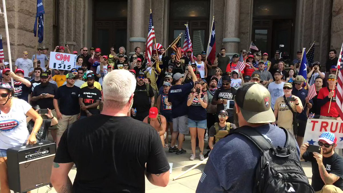 Activists chant: 'We want freedom' at #Austin 1776 #FreedomMarch https://t.co/RqHrZJ3td4