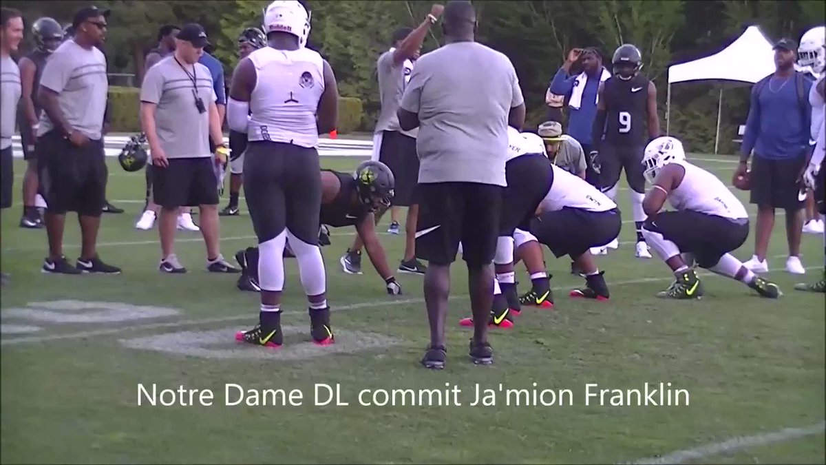 2018 #NotreDame DT commit Ja'mion Franklin (@Jamion_Franklin) is here. https://t.co/MD6TxNrFdx