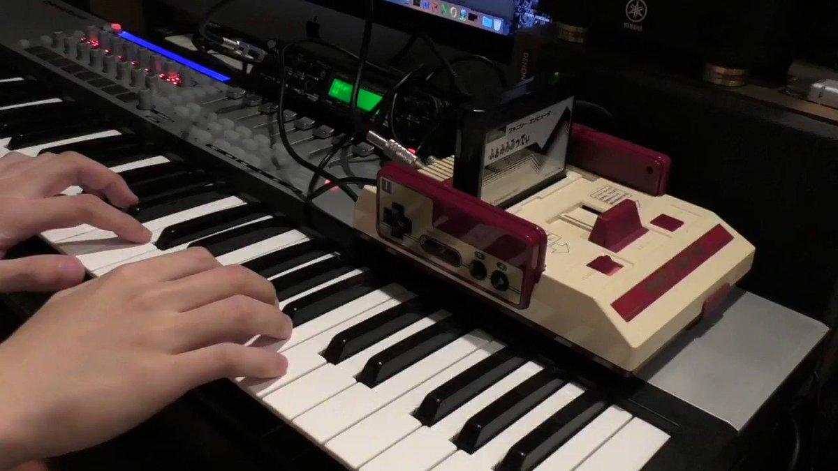 マリオのパワーアップ音をゆっくり弾いて早送りしてみました。 Mario power up https://t.co/GrNgP9N4mZ