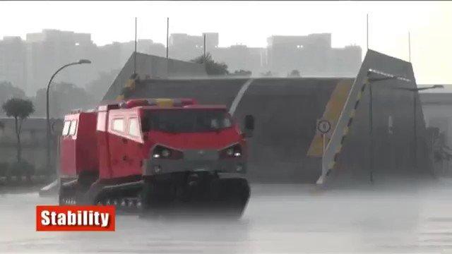 孤立集落を救うため全国に1台のみ「レッドサラマンダー」九州豪雨で初出動