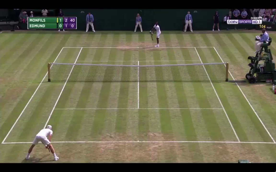 Monfils = Talent #Wimbledon https://t.co...