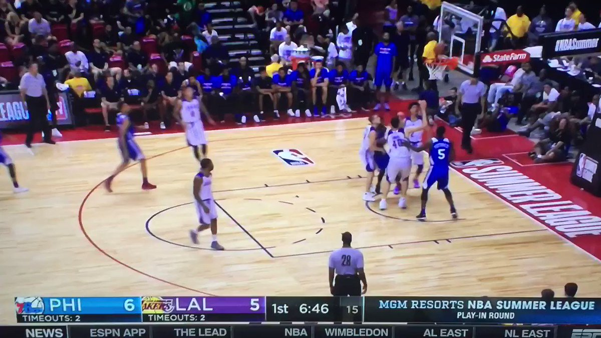 Lonzo Ball throws back-to-back incredible full-court assists in Summer League game