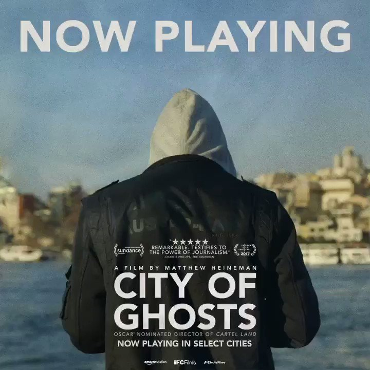"""#CityofGhosts is NOW PLAYING in select cities nationwide. See the film @Variety calls """"POWERFUL""""   http://tickets.cityofghosts.com"""