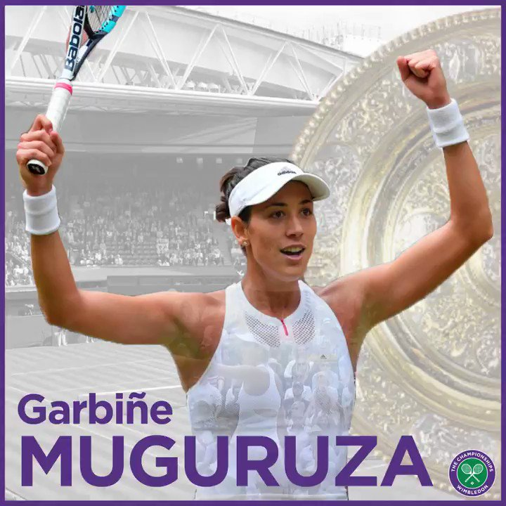 For the first time, @GarbiMuguruza is the #Wimbledon champion...