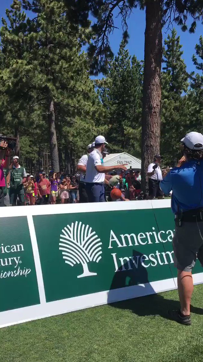 Diving catch into Lake Tahoe on a pass from @AaronRodgers12 ! So much fun&entertainment on 17th @ACChampionship ! https://t.co/kVplGJmaib