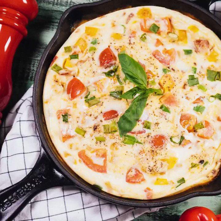 омлет с овощами в духовке своему виду