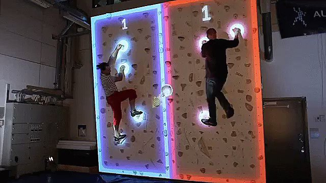 Augmented Reality Climbing Wall! #ar #augmentedreality Details at https://t.co/TVrLNuMGcS