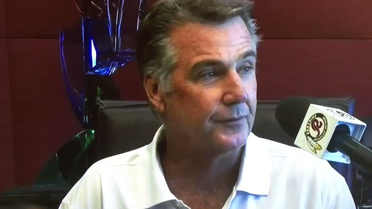 Please enjoy Bruce Allen calling his franchise quarterback by the wrong first name six times in two minutes