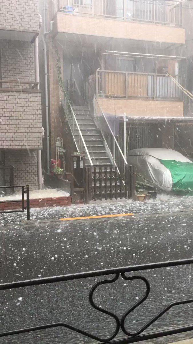 あはははは。雹ヤベー