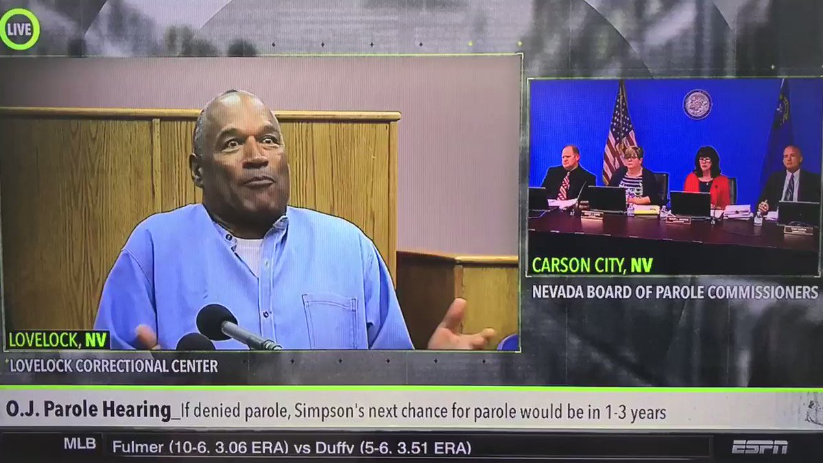 OJ bout to 'Atlanta Falcon 28-3' his own parole hearing. #OJSimpsonPar...