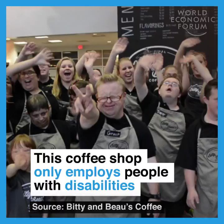 This coffee shop only employs people with disabilities.☕️ #SaturdayMor...
