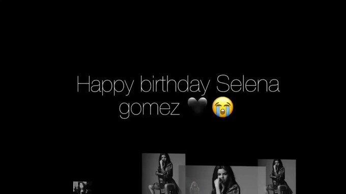 happy birthday Selena gomez I love you so much I\m your fan