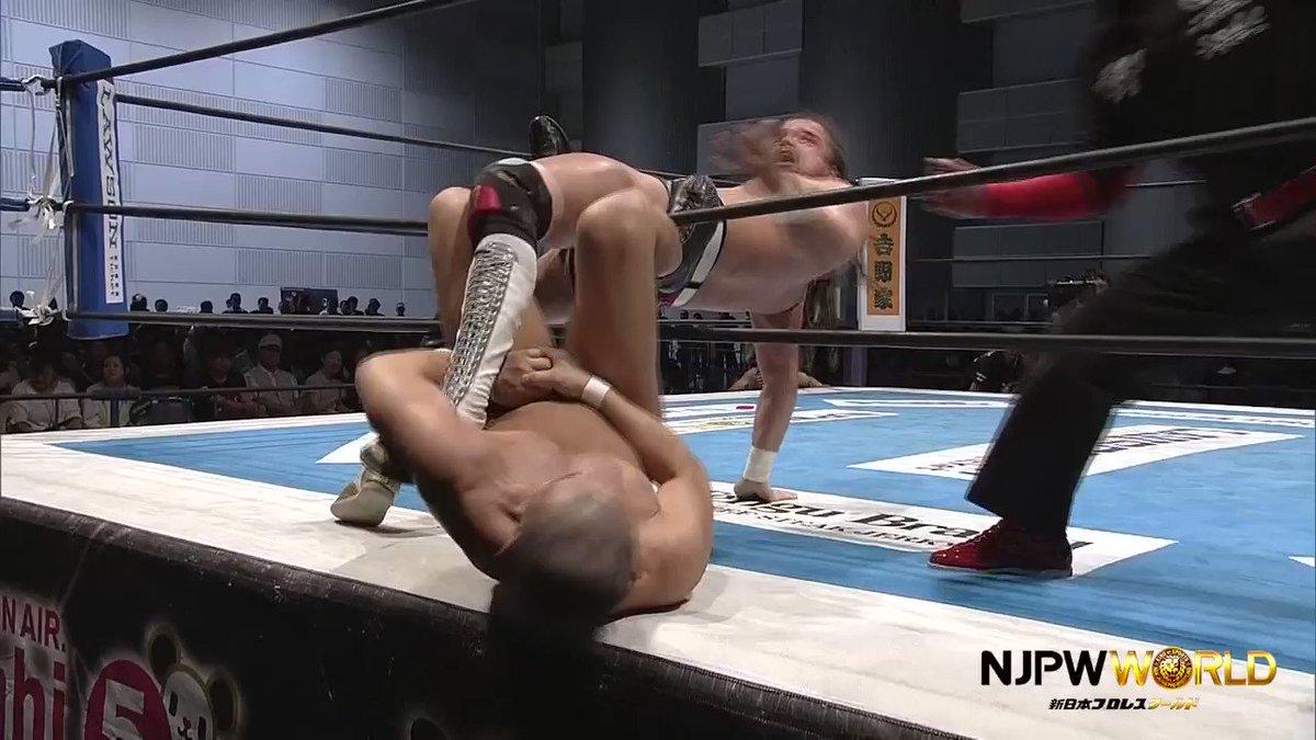 鈴木みのる@suzuki_D_minoru 、ジュースの膝を破壊へ… #G127...