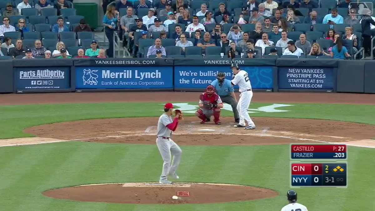 The @Yankees take the lead … and the @Reds get all three outs!  This t...