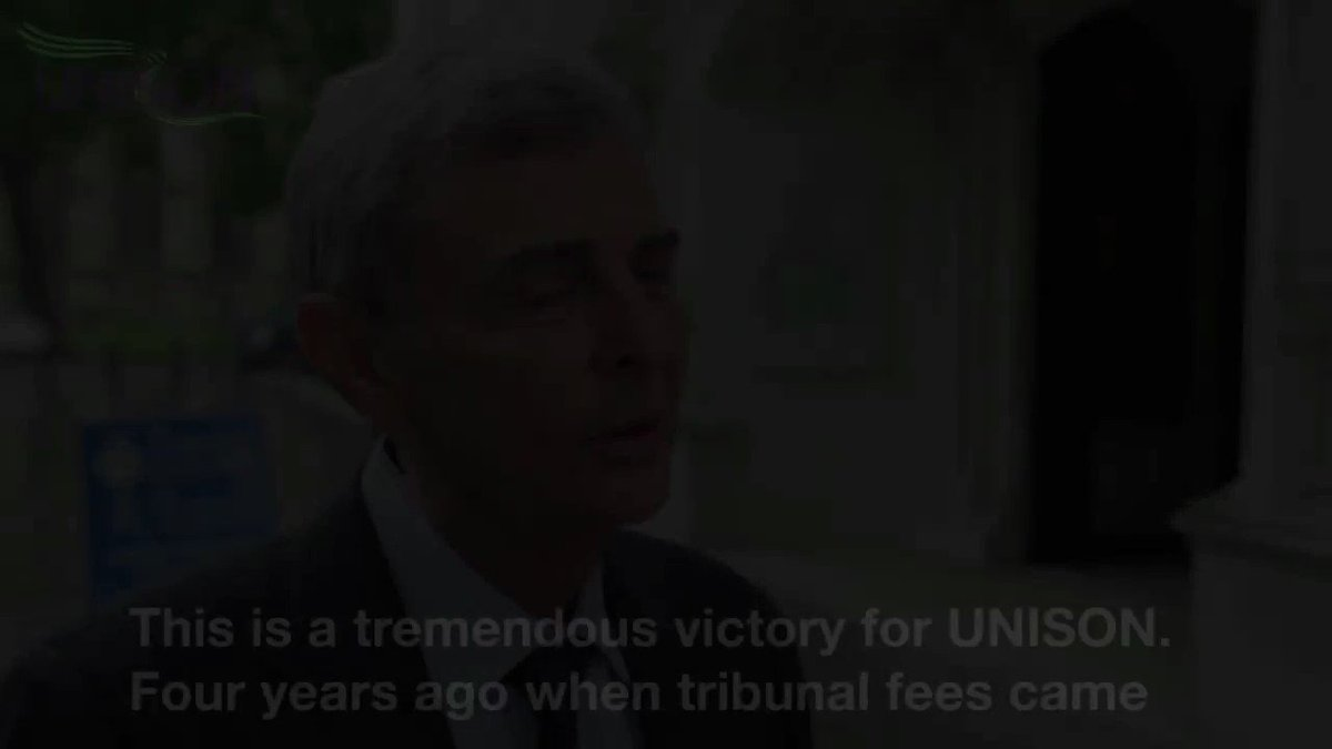An absolutely stunning victory - for everyone in work. Supreme Court backs @unisontweets and scraps tribunal fees https://t.co/bEio2Ivg5C