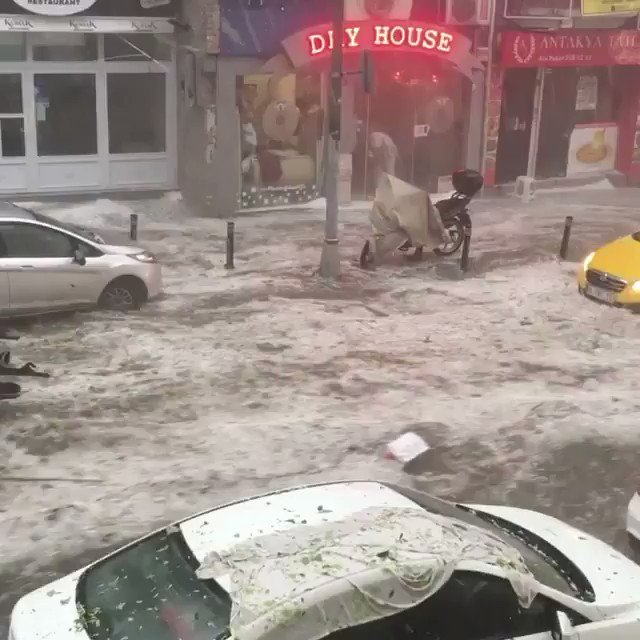 2 injured in wall collapse as heavy rain hits Istanbul