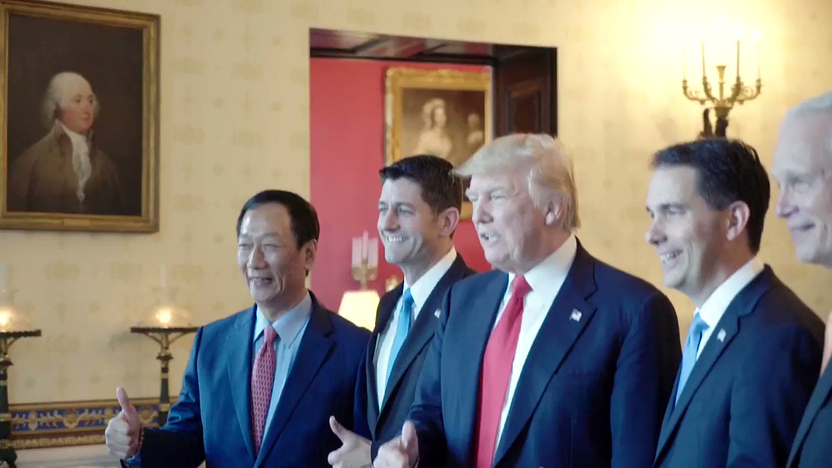 #ICYMI: President Trump welcomed Foxconn to the White House for a major jobs announcement https://t.co/yv5U7ZqYOP
