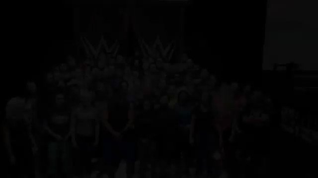 Here is the roster singing happy birthday to Triple H, he turns 48 today