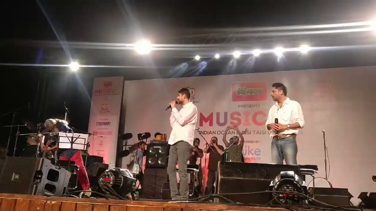 The @AisiTaisiDemo & @RedFMIndia #Musicom ends with a standing ovation from a full house at Sirifort Auditorium. Time for @indianoceanbandpic.twitter.com/EEZAhPpONL