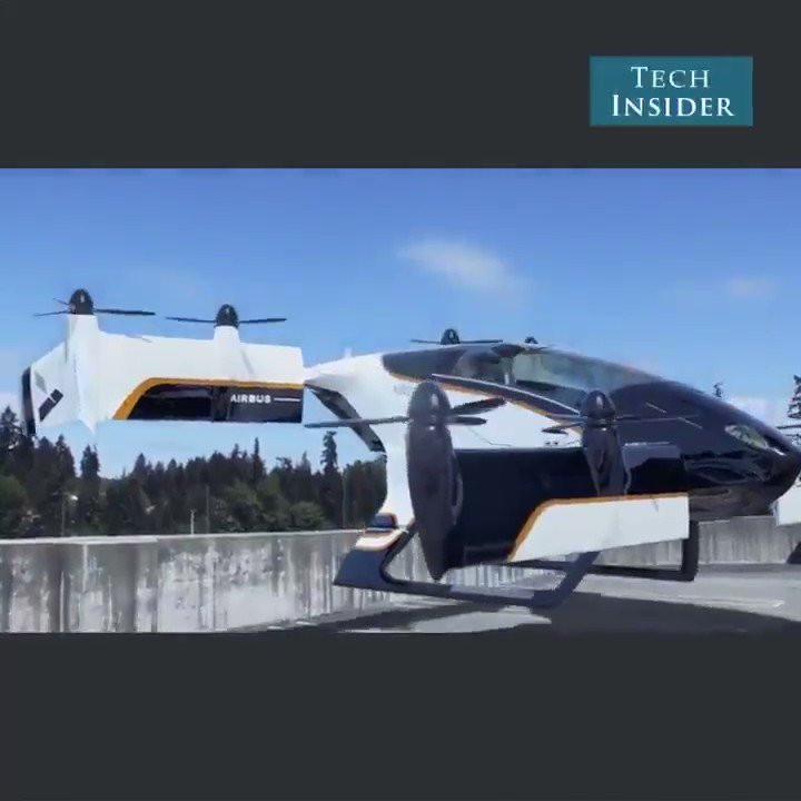 Vahana is the @Airbus flying car project. #ai #aerospace #dronevideos #drones