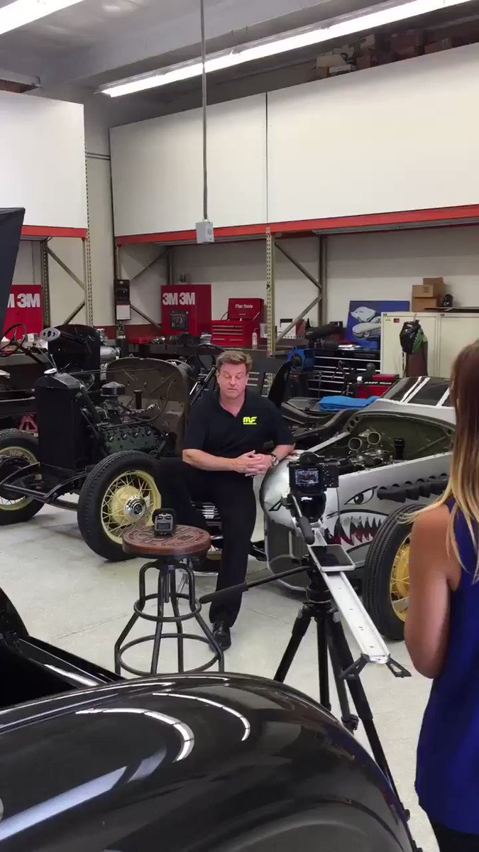 Shooting w @Magnaflow today, talking about how they help us make automotive dreams come true