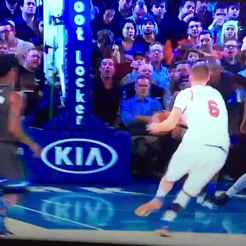 Happy Birthday Kristaps Porzingis, here\s a fancy lay up (yes, he made it) and yes he is 7\3 and can do this