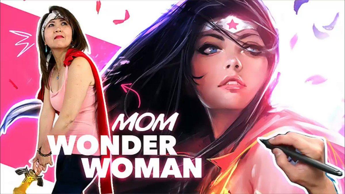 まじかよ。お母さんの写真から、ワンダーウーマンの超美麗CGイラストが出来上がる一部始終フォトショマジック動画