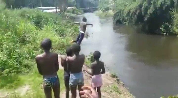 RT @spectatorindex: MEDIA: Children in Kenya jump into a river. https://t.co/HcO7wFwVU8