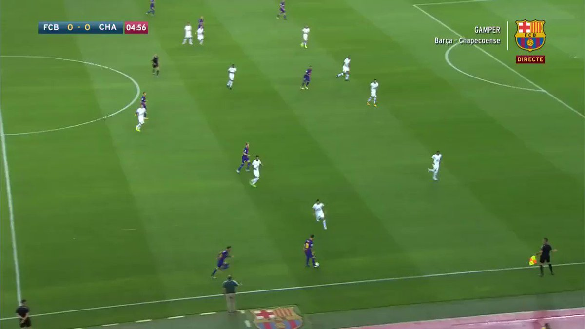 Barcelona opened today's friendly vs. Chapecoense with a brilliant team goal (��: @FCBarcelona) https://t.co/S5DYb0uxkL