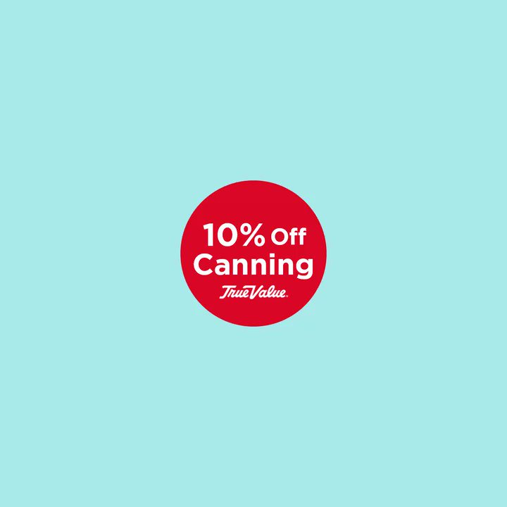 Everything you need for your next canning project is 10% off (online only). Click here: https://t.co/iFm0OXaMu1 https://t.co/b9NQoqaE45